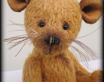 "SQUEAK - mohair artist teddy mouse KIT - 9"" tall when completed"