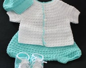 Crafts By Cheri Original Baby PATTERN-Newborn size-Shirt, Pants, Baseball Style Hat, Tennis Shoes