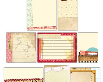 Elle's Studio Handmade Layers Journaling Tags for Scrapbooking
