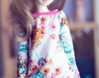 MSD Spring Flowers sweater for bjd dolls Unoa Minifee