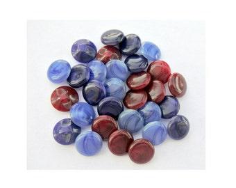 30 Antique vintage plastic buttons 3 colors 13mm, sweet buttons