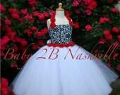 Damask  Flower Girl Dress...