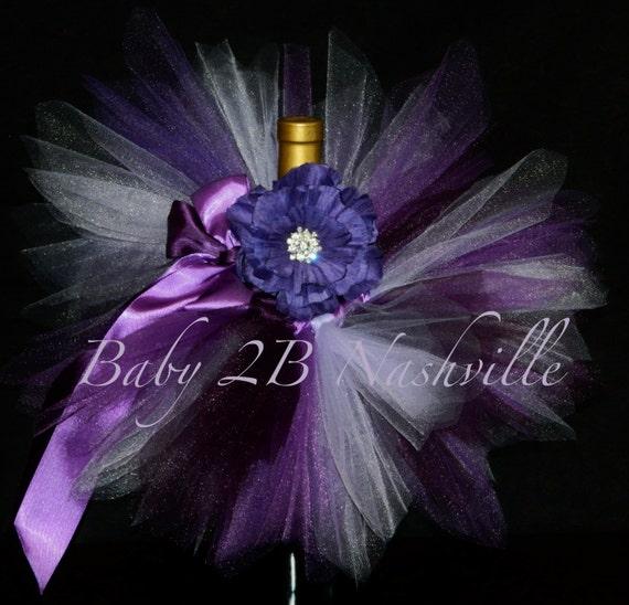 Baby Tutu Skirt Baby Half Skirt Newborn Tutu Baby Gift Set in Purples...Great Baby Shower Centerpiece... Baby Gift