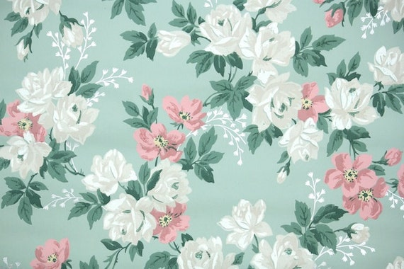 1940s vintage wallpaperthe yard floral wallpaper with