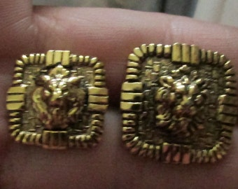 lion head square set buttons set of 10 or 8