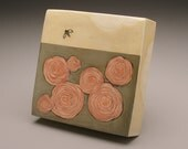 Ceramic Box Tile- Bee & Blossoms- Ruchika Madan
