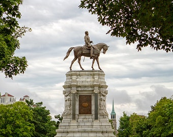 Virginia Photograph, Lee Monument Photo, Historic Monument Avenue Art, General Robert E. Lee, Statue, Richmond RVA - General Lee
