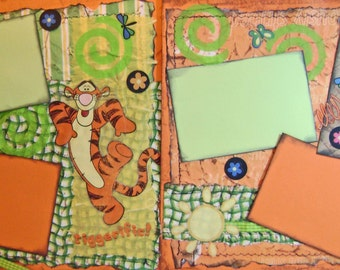 Scrapbook  Pages Premade Disney TIGGER Layout  - Kitsnbitscraps