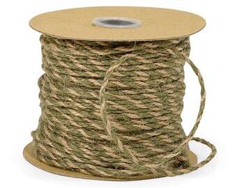 SALE Burlap Twine • Moss & Natural Jute Twine (50 Yards) Wholesale • Packaging • Embellishments • Paper Craft • Rustic Jute Rope
