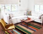 Decorative Rug, modern rug, contemporary rug, carpet, colorful rug, contemporary rug, living room decor, original rug, stripes rug