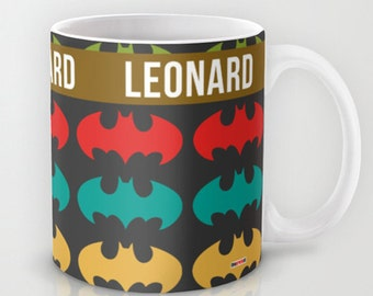 Personalized Mug, Customized, Boyfriend Gifts, Bat Man Mug, personalized gifts, mens gift ideas, Kids gifts, gift for guys, modern ceramic