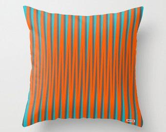 Decorative pillow cover - Colorful pillow cover - Modern pillow - Geometric pillow - Cool pillow - Orange - Sofa pillow case