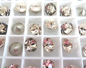 15 Light Silk Foiled Swarovski Crystal Chaton Stone 1088 39ss 8mm