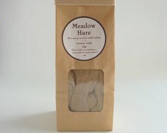 Fawn merino roving, 25g, 1oz, 'Meadow Hare', 21 micron, merino roving, beige merino tops, felting wool, needle felt wool, wet felting
