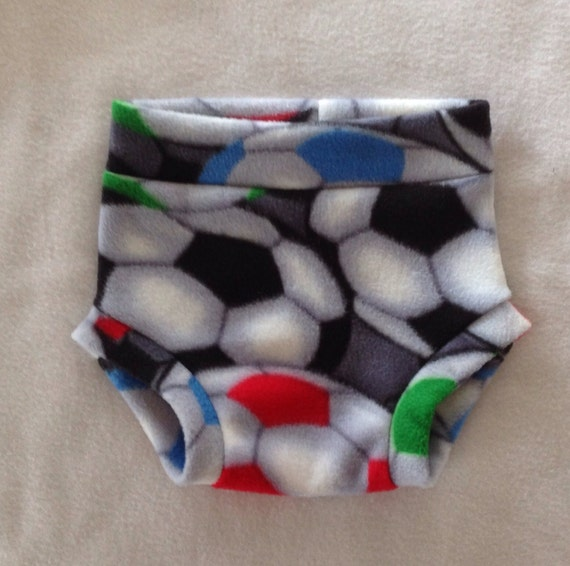Soccer (anti-pill) Fleece Diaper Cover