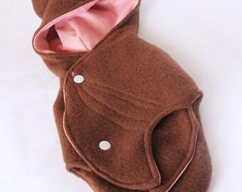 Blythe Bat Wrap in brown and pink carrier storage case sleeping bag MonstroDesigns