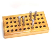 design stamp stand holder holds 40 steel stamps - plus your choice of 1 standard design stamp, organizer for .25 inch shank stamps