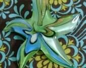 Sea Green StarFish LampWork Glass Pendant