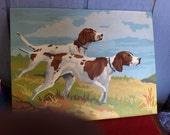 Vintage Paint by Number Pointer bird dogs
