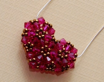 Beading Tutorial Video: Flower Heart Necklace