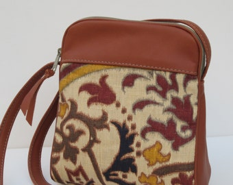 SMALL SHOULDER BAG  Linen and Leather