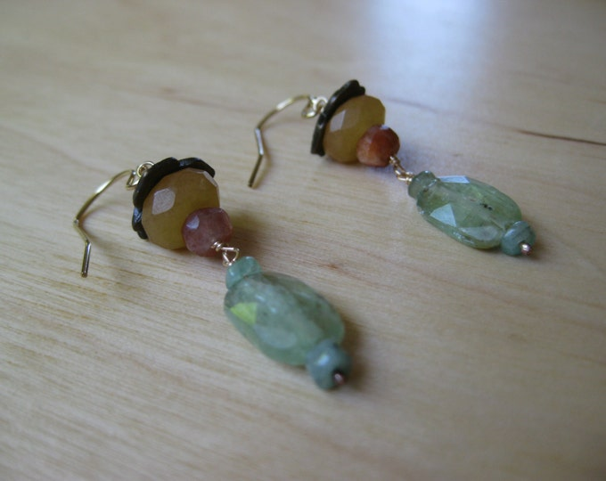 Insouciant Studios Persimmon Lantern Earrings
