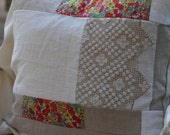 "20"" Linen Patchwork Pillow Pattern by Besserina DOWNLOAD"