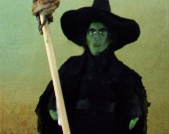 Wicked Witch of the West Wizard of Oz Character Doll Miniature