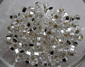 6/0 Seed Beads Translucent Silver Lined Crystal Clear, 4mm, Czech, Preciosa, 20 grams (270-300 beads/pack) *CLEARANCE*
