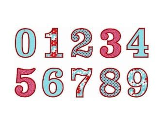 INSTANT Download - Headline Numbers applique embroidery design - 6 sizes