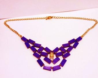 Pretty Purple Tile Necklace
