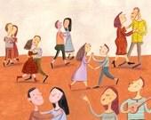 Dancing  original illustration