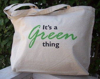 Fashionable Market Bag - It's a Green Thing
