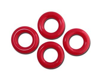 Vintage Red Acrylic Hoops Rings 30mm (4) hps059B
