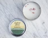 Ambrosia Soy Candle//Travel Candle//Essential Oil Scent
