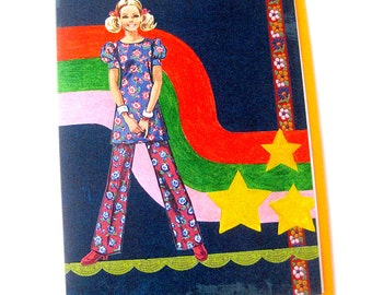 Card // Blank // Seventies Girl Art Card