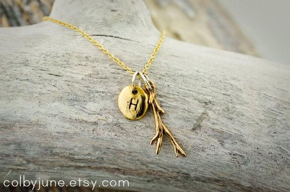 Bronze Twig Charm