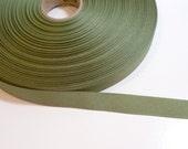 Green Ribbon, Olive Green Grosgrain Ribbon 5/8 inch wide x 10 yards