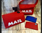 Pretend Mailbox, Mailbag and 2 letters