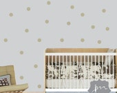 Polkadot Wall Sticker Decal - Circle Vinyl Wall Art Decal - Polka Dot Nursery Wall Decor - HWL167