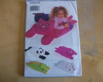 Butterick 4224 Animal Pillow Pals   sewing pattern