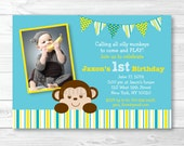Mod Monkey Birthday Invit...