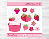 Cute Strawberry Clipart C...