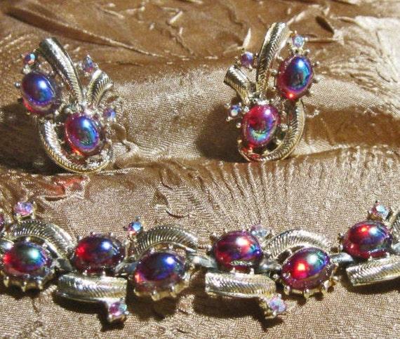 Vintage Dragons Breath Bracelet Earrings