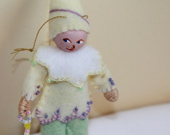 Fet Art Doll Lemon Pudding Piksees Easter Ornaments