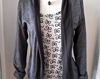 Asphalt/black cardigan-sizes M,L,XL
