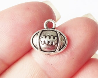 10 Football Charms 12X11mm