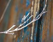 Twig necklace Silver branch