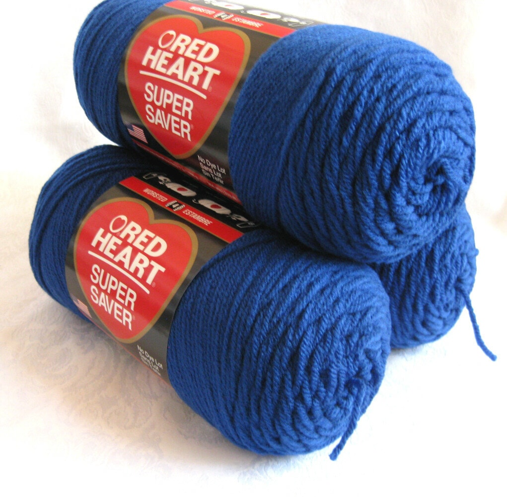 Royal Blue Red Heart Super Saver Yarn All Purpose By