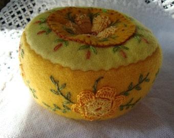 bright yellow pincushion